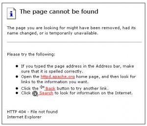 Default 404 Error Page