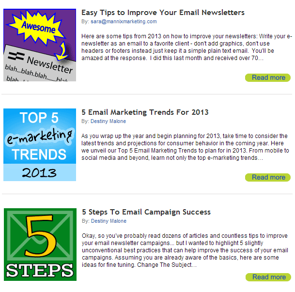 More email marketing tips >>