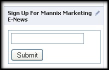 Sign Up for Mannix Marketing enewsletter box