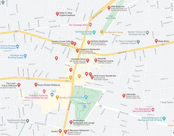 Saratoga restaurants on Google My Business