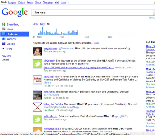 miss usa Google search results