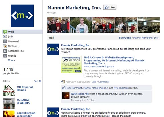 Facebook new business page look