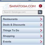 Saratoga.com's Mobile Site