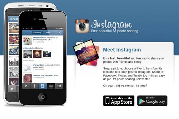 Meet instagram homepage