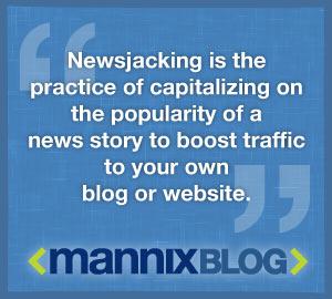 Mannix newsjacking quote