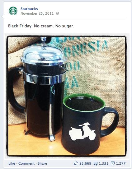 Starbucks Facebook Holiday Photo