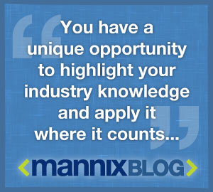 Mannix blog opportunity quote