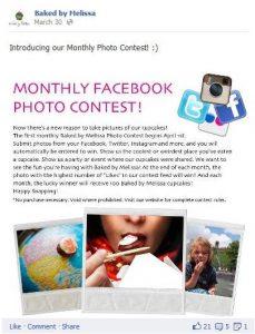 Facebnook photo contest post