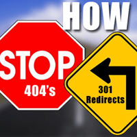 stop 301 redirects to 404