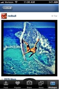 Red Bull Instagram photo