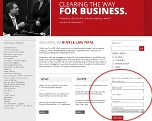 Law Firm Contact Us Web Page Screenshot