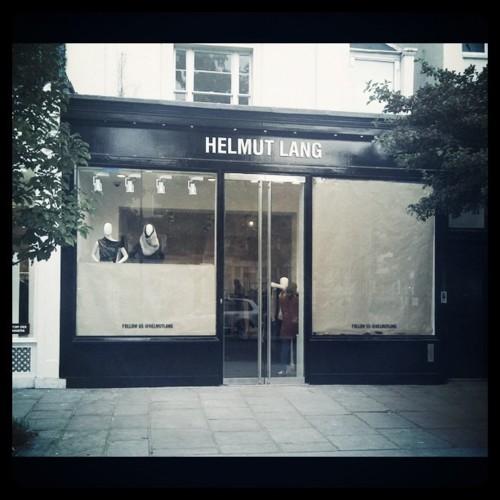 Helmut Lang storefront