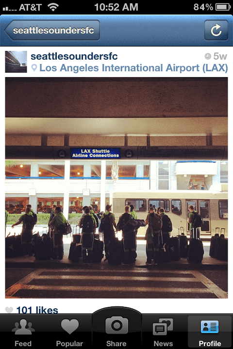 Seattle Sounders at LAX
