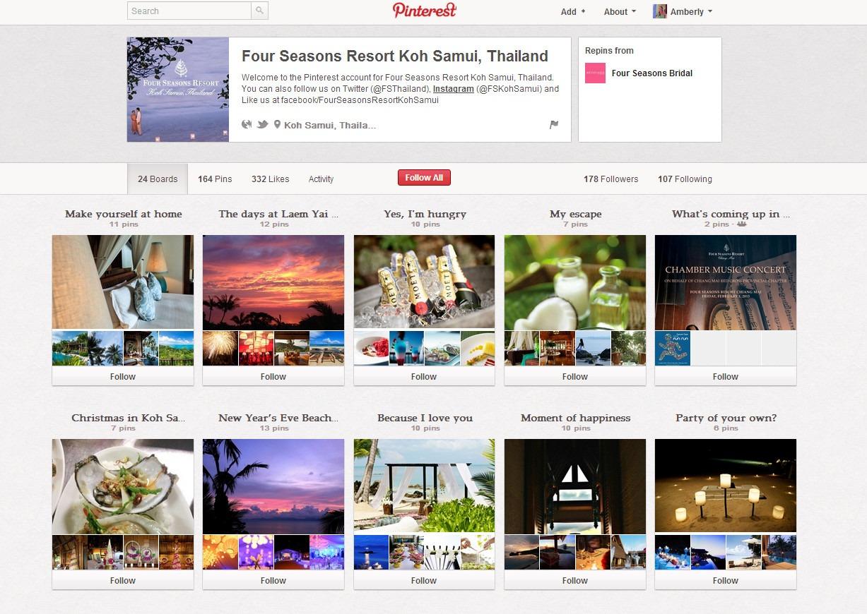 Ko Sumui Thailand Pinterest page