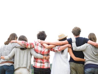 People linked together