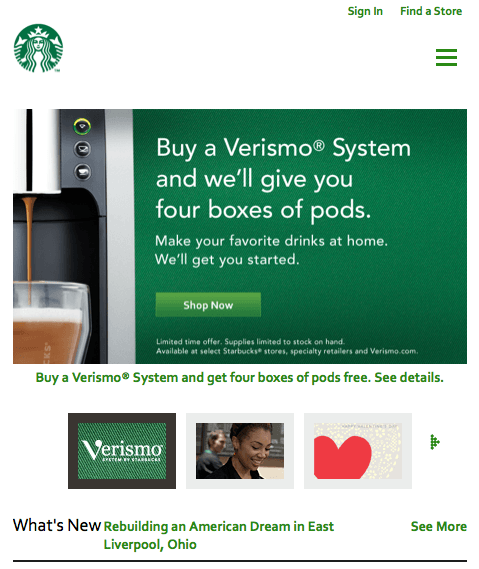Responsive Web Design- Starbucks
