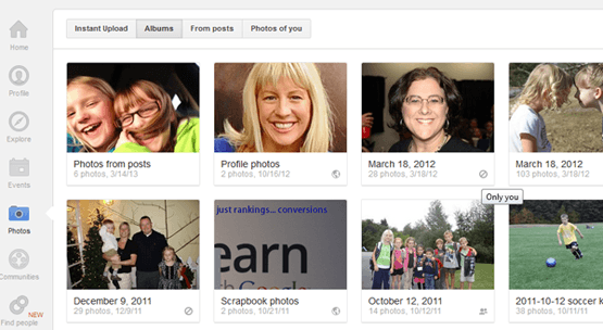 How to make your google instant upload photos private