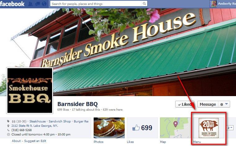 Barnsider BBQ Facebook page