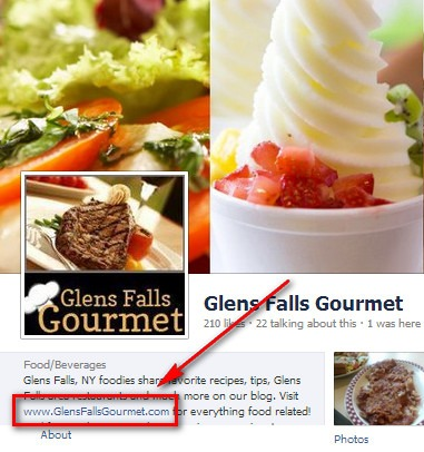 Glens Falls Gourmet Facebook Page
