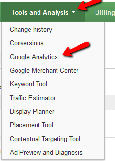 Link Google Analytics to Ads