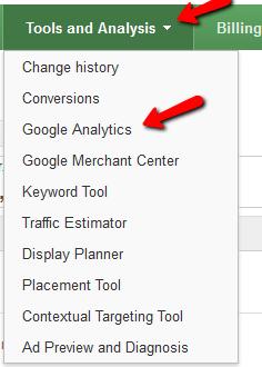 Link Google Analytics to AdWords