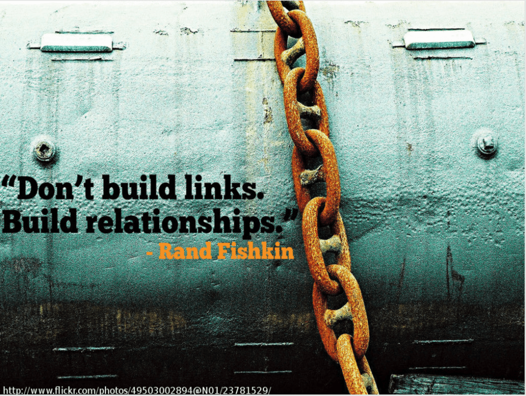 on't build links build relationships quote
