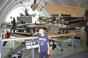 boy in the RAF museum
