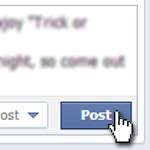 Post button for Facebook