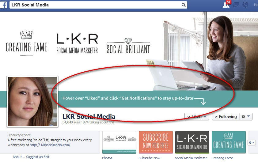 LKR Social Media Marketer banner on Facebook