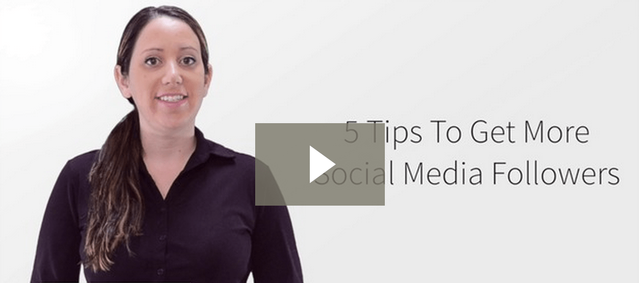 5 Tips To Get More Social Media Followers video screen shot
