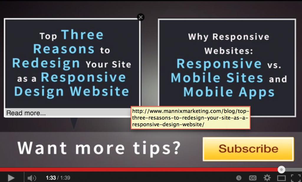 Associated Website Annotations Linking to Mannix Marketing Blog