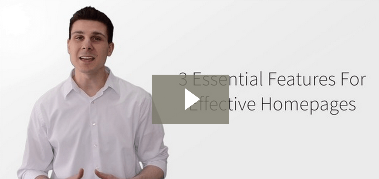 3 Essential Features For Effective Homepages video screen shot