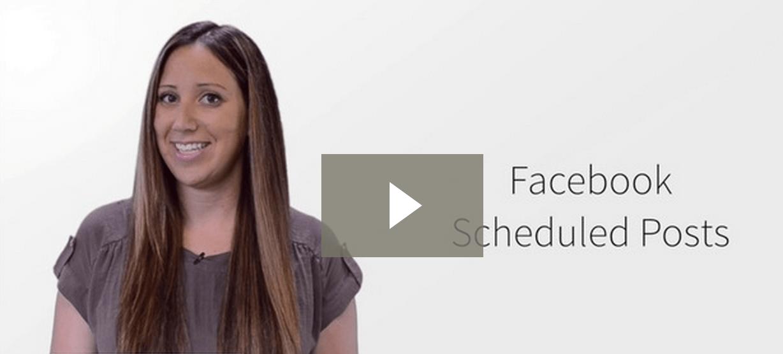 Facebook Scheduled Posts video screen shot