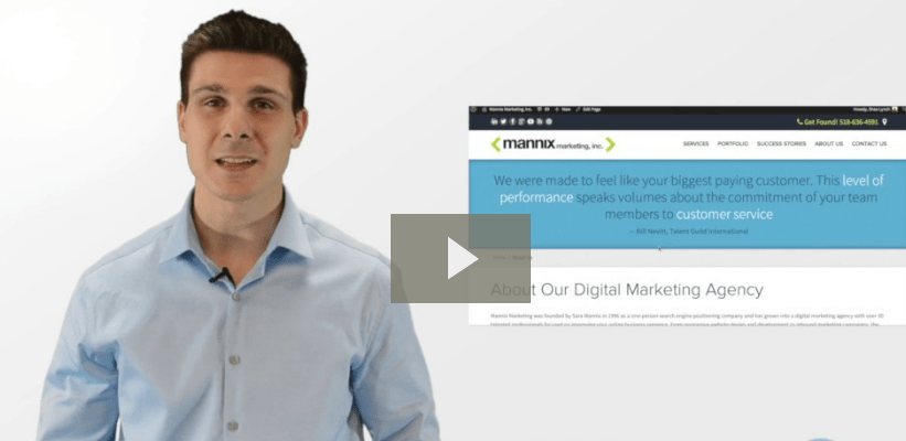 digital marketing video screen shot