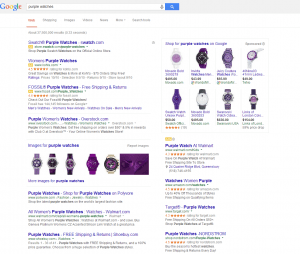 A Google Ads results page