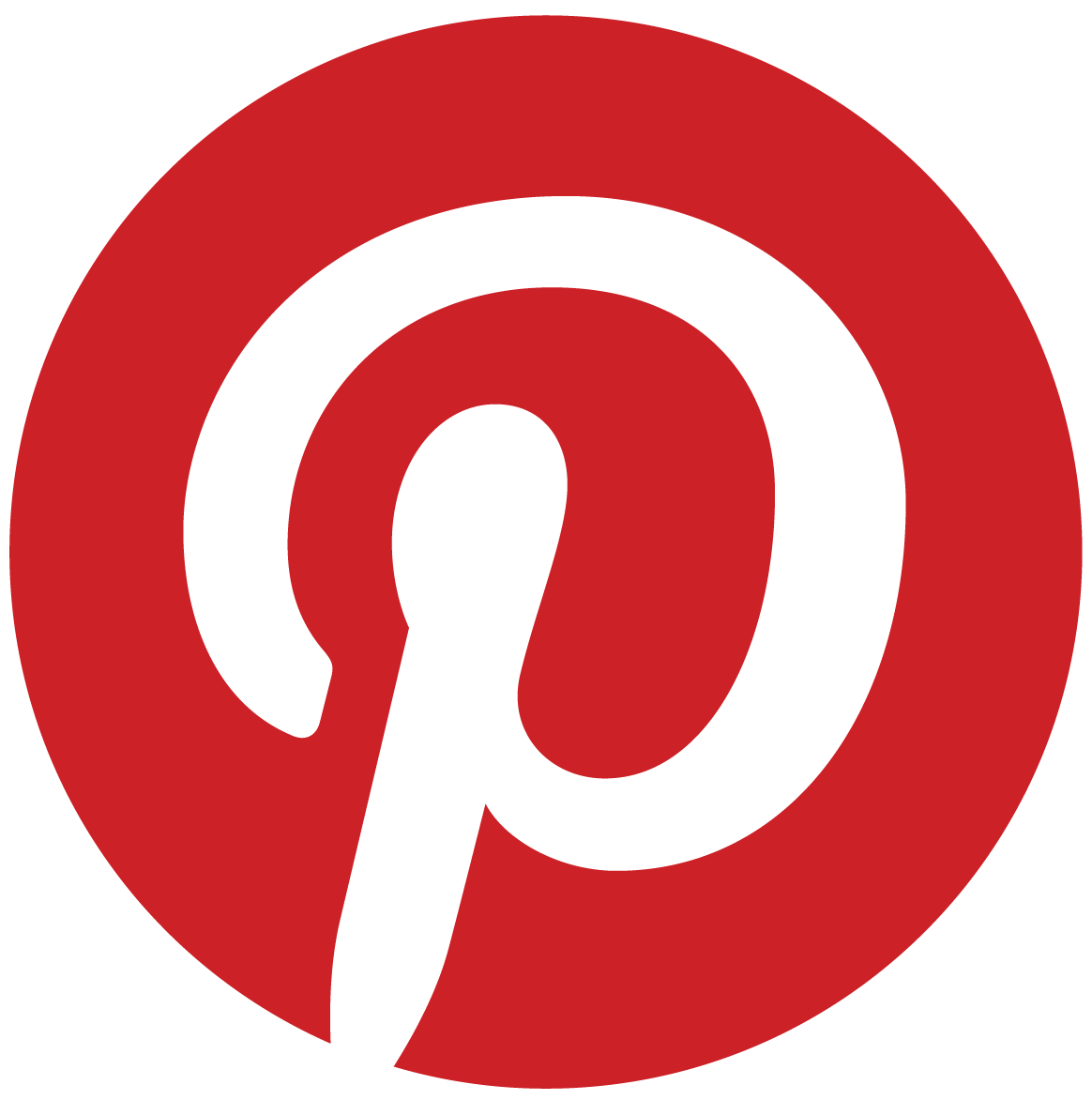 Pinterest Badge - Red