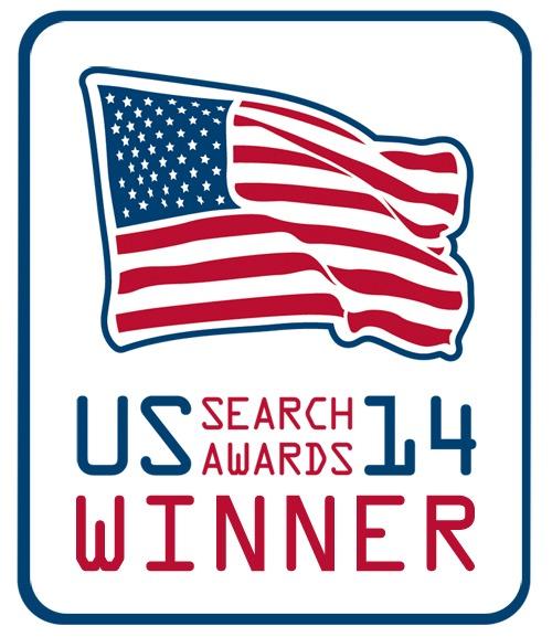 US Search Awards 2014 winners badge