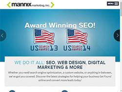 Mannix Website On Tablet