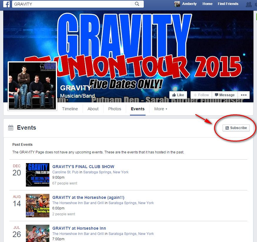 Subscribe Button Facebook Events