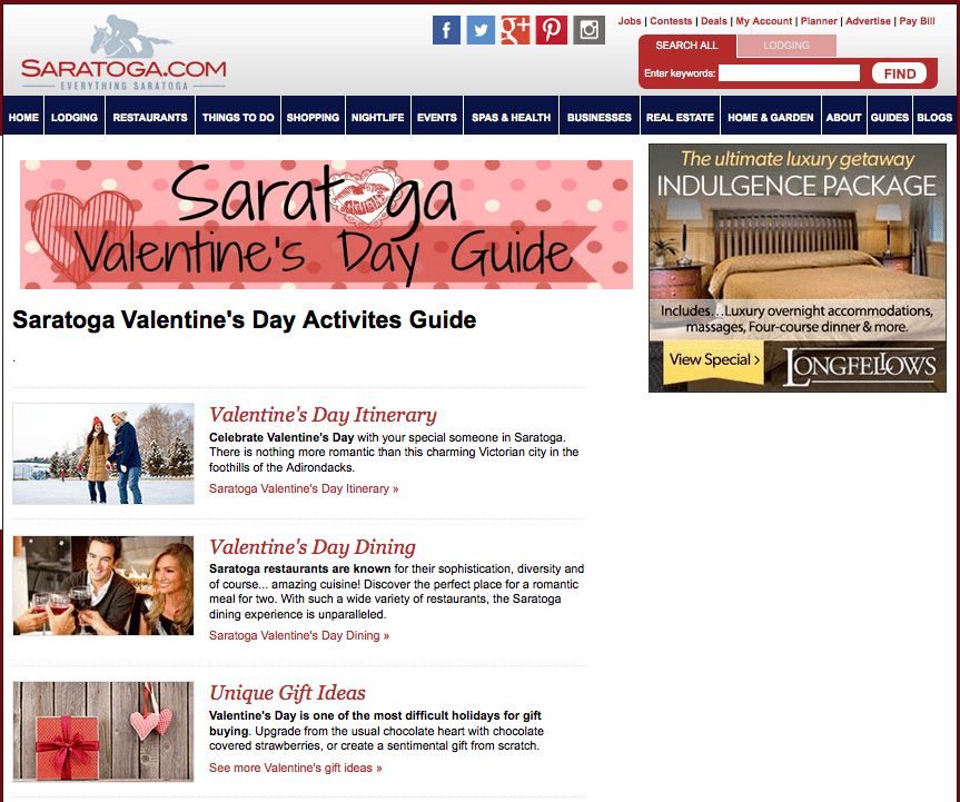 local online advertising saratoga specialty and holiday guides