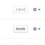 Facebook invite button