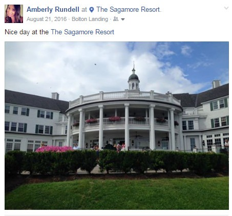 Social Media Facebook Check In Sagamore Resort