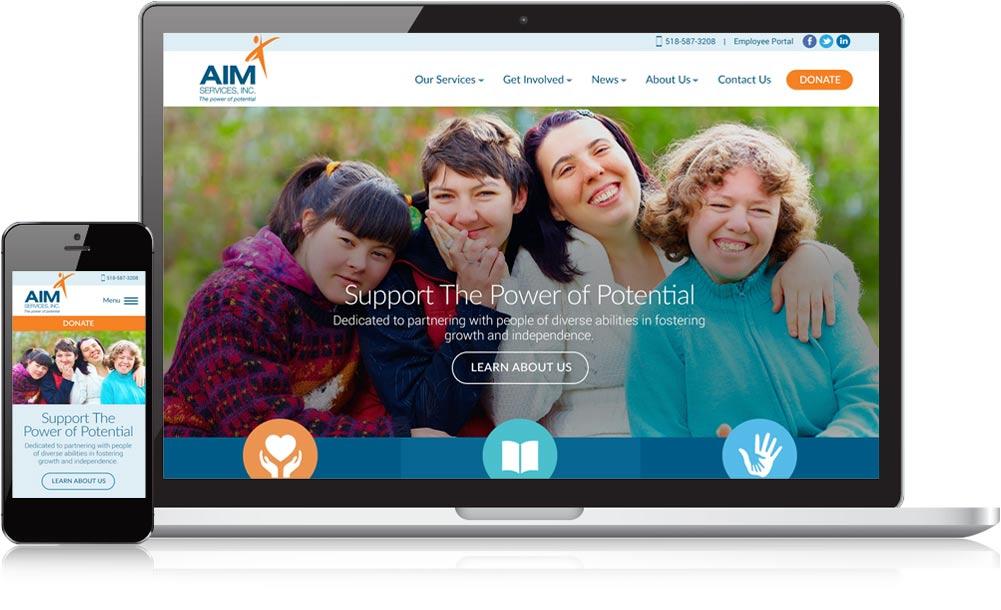 AIM Services Responsive Website Design