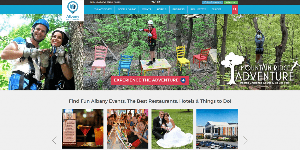 Albany.com Home Page Hero Image
