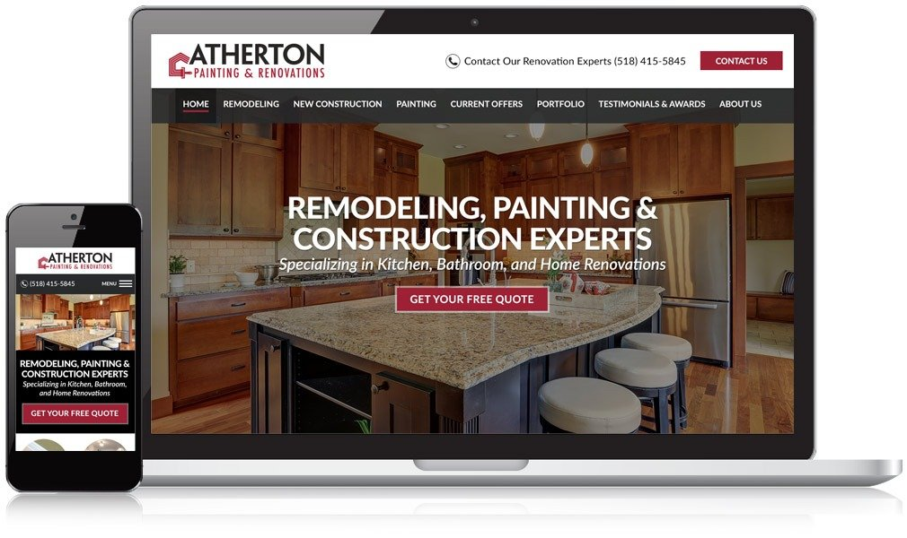 Atherton Painting and Renovations Responsive Website Design