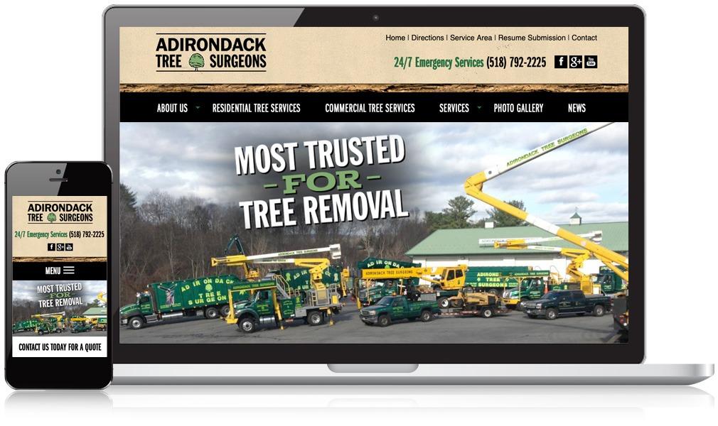 Laptop & Mobile Screens Of Adirondack Tree Surgeons