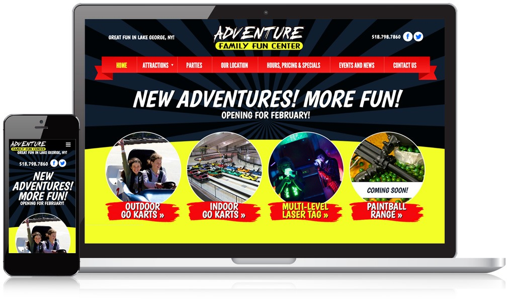 Laptop & Mobile Screens Of Adventure Family Fun