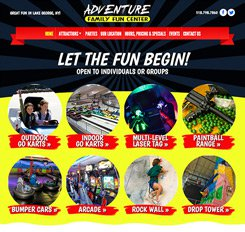 Adventure Family Fun Web Design