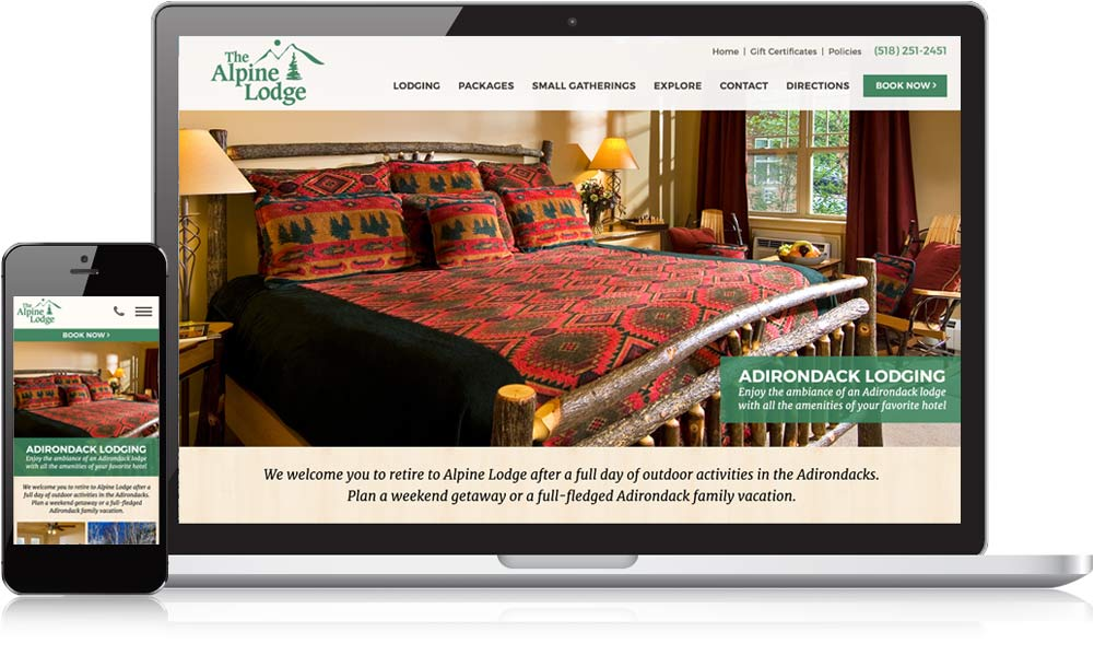 Alpine Lodge Website Design