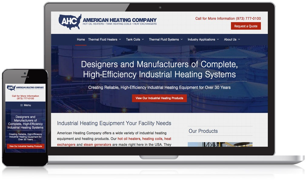 Responsive Website for American Heating Company